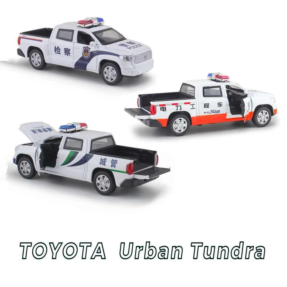 Высокая моделирования Новый 1:32 Toyota Tundra сплава литья под давлением модель автомобиля отступить электронные классическая для Детские игрушки Подарки Бесплатная доставка