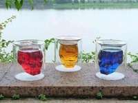 Huong Movie Figure Iron Man 3D Water Cup Drinkware Kitchen Mugs Coffee Glass Cup Collection Model Toy Gifts Glass Action Figure