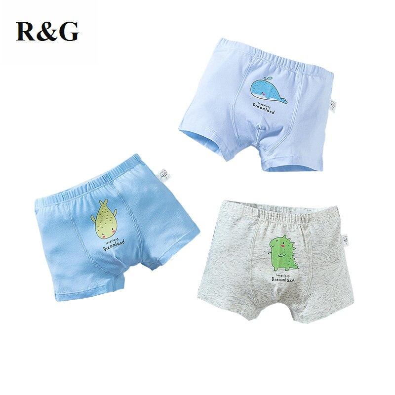 R & G/детские трусики 3 шт./партия хлопковые нижнее белье для мальчиков трусы