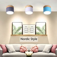 Modern Ceiling Lights Nordic Iron+wood Ceiling Lamp for Living Room Bedroom Kids Room Aisle Corridor LED Spot Light Home Fixture hot sale fashion design of kids room lamp nordic dome light one heads ceiling lights for home decor free shipping