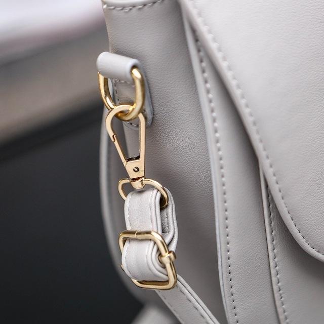 2016 women Top quality Leather Shoulder bag Fashion Crescent moon cat ear knapsack School Bags girl's cat bag