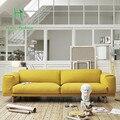 Небольшой семейный стиль boreal Европа искусства ткани диван современной Японской малый пара может распускать и мыть ткань диван гостиной мебель