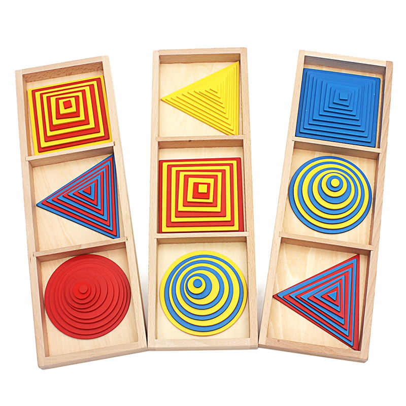 Baby Toy Montessori Circles Squares Triangles Sensory Toys Early Childhood Education Preschool Training Kids Brinquedos Juguetes