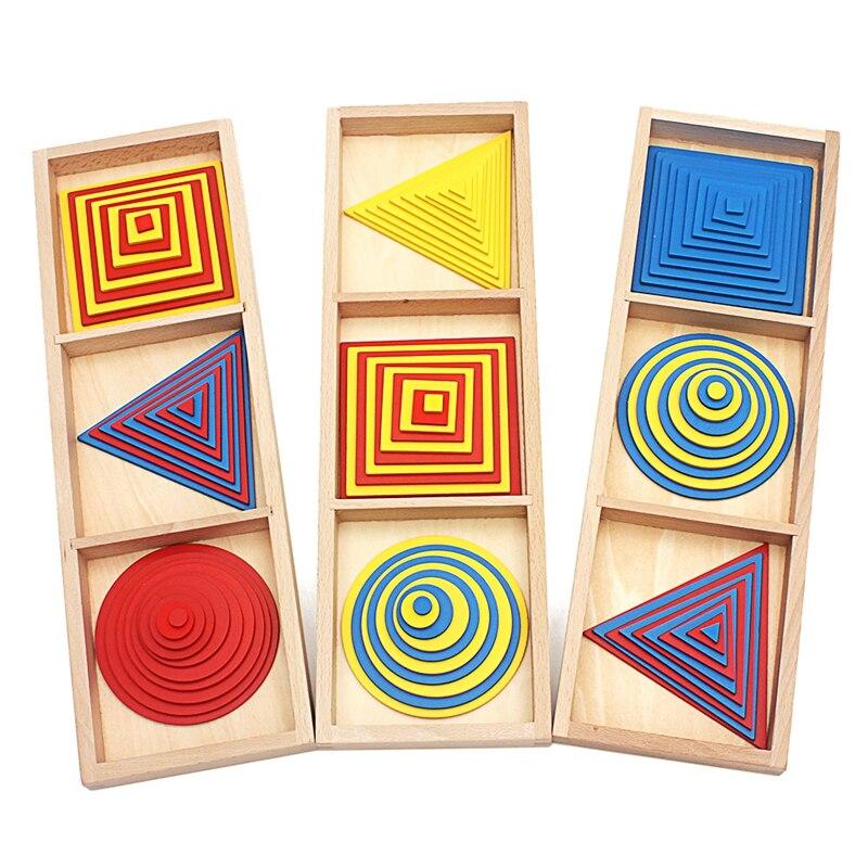 Juguetes para bebés Montessori círculos cuadrados triángulos Juguetes para niños de educación temprana