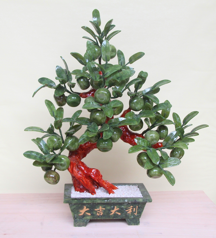 Export wheel 28 colors of green orange trees planted jade bonsai are Home Furnishing decorations crafts desk ornaments