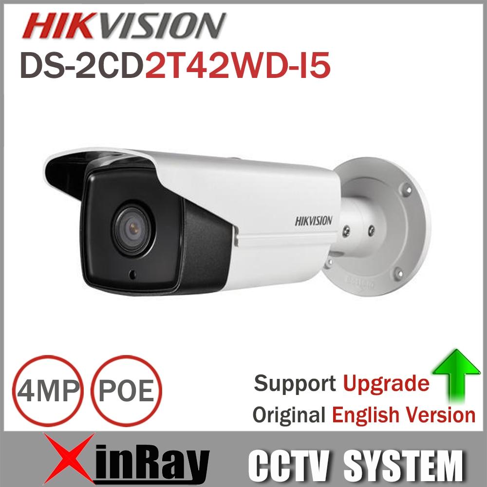 HIKVISION DS-2CD2T42WD-I5 IP Camera 4MP EXIR IR 50M Bullet CCTV Camera Support POE WDR Bullet  IP Camera