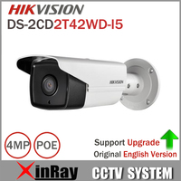 HIKVISION DS 2CD2T42WD I5 IP Camera 4MP EXIR IR 50M Bullet CCTV Camera Support POE WDR