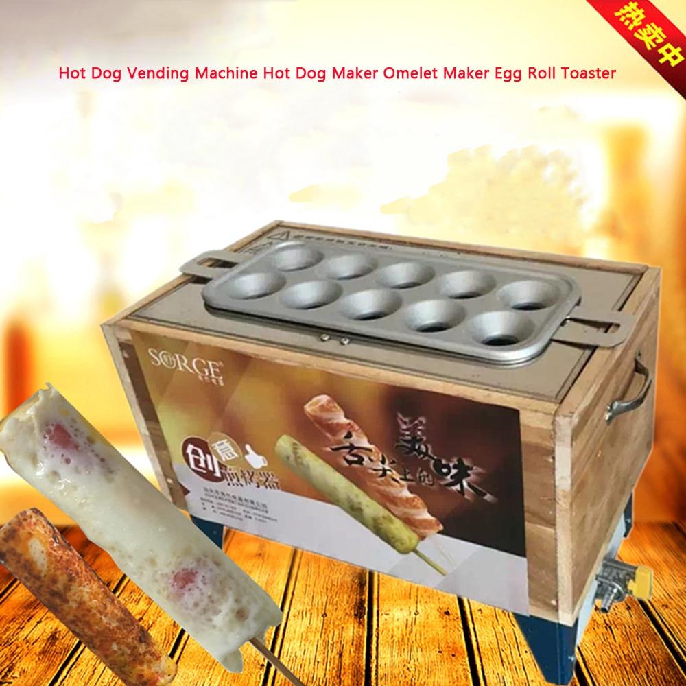 Commerciale Egg Roll Macchina Egg Roll Maker Hot Dog Vending Macchina Hot Dog Maker Frittata Maker Rotolo di Uovo Tostapane