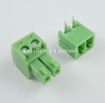 50 Pcs 3.81mm Pitch 2 Pin Angle Screw Pluggable Terminal Block Plug Connector [vk] 553602 1 50 pin champ latch plug screw connectors
