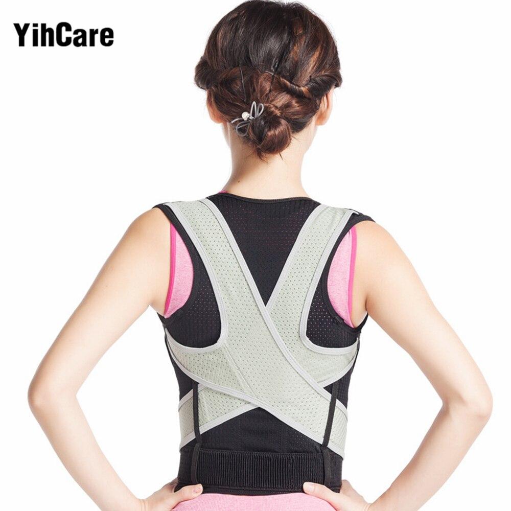 Adjustable Corset Back Posture Corrector Therapy Shoulder Lumbar Brace Spine Support Belt Posture Correction For Adult Men Women