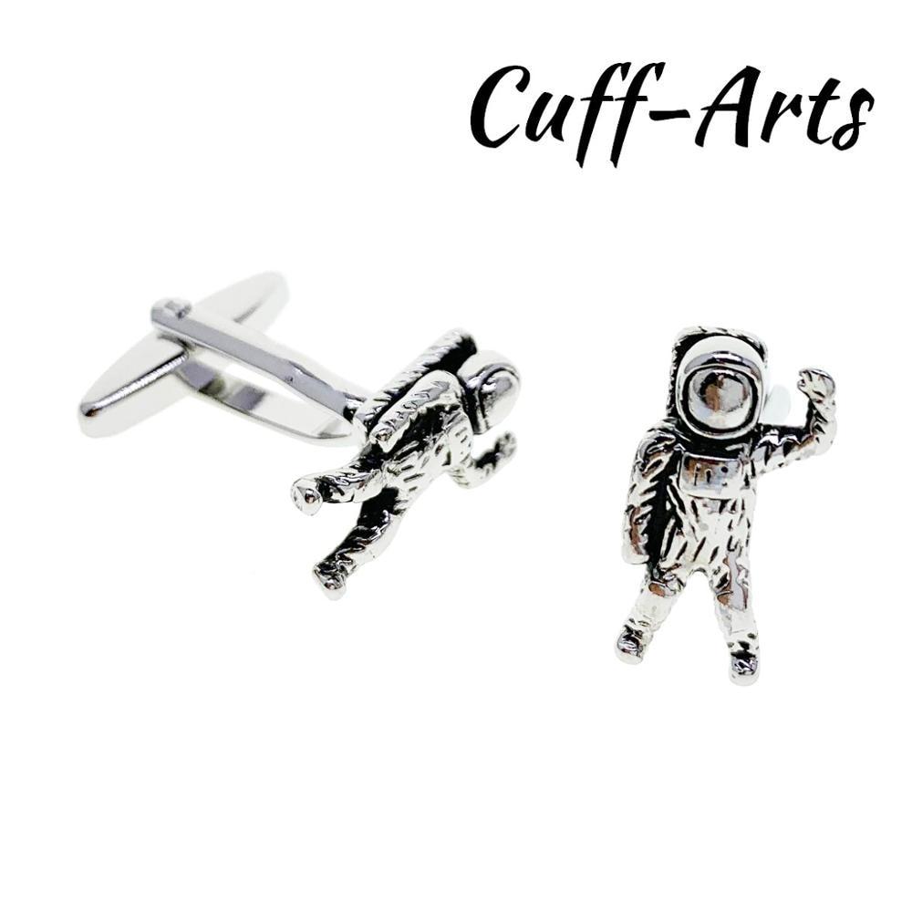 Cufflinks For Men Spaceman Alien UFO Cufflinks Gifts For Men Bouton De Manche Gemelos Gemelli Spinki By Cuffarts C10431