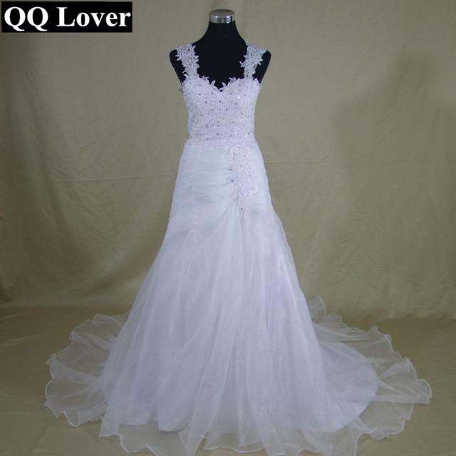 Qq Lover Good Quality Liqued Lace Princess Wedding Dresses Plus Size Vestidos De Novia