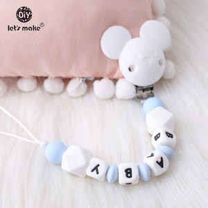Image 5 - Lets Make 500pcs Alphabet Letters 12mm Food Grade Silicone DIY Teething Necklace 26 Letters BPA Free Silicone Teether Beads