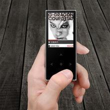 Lo nuevo original de benjie x1 pantalla táctil 8 gb mp3 reproductor de música de alta Sin Pérdida de calidad de la Aleación de Metal Cuerpo de la Ayuda 128 GB Tf con FM