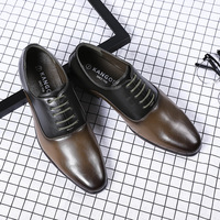 Handmade Italian Style Men Dress Loafers Microfiber Leather Formal Business Oxfords wood Shoes Men's Flats for Party wdding