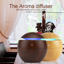 USB Aroma Essential Oil Diffuser Ultrasonic Cool Mist Humidifier Air Purifier LED Night light for Office Home цена и фото