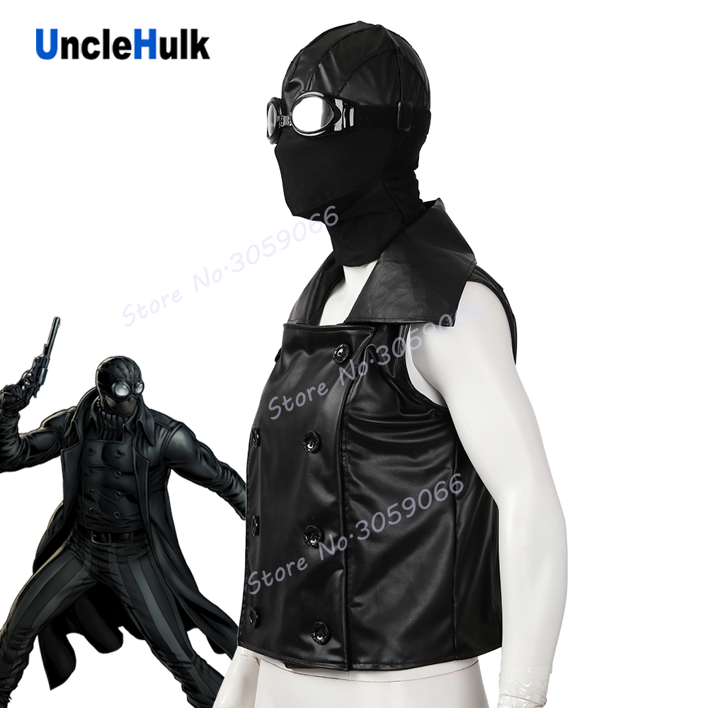 Spider-man Noir Cosplay Costume - hood and glasses and jacket | UncleHulk