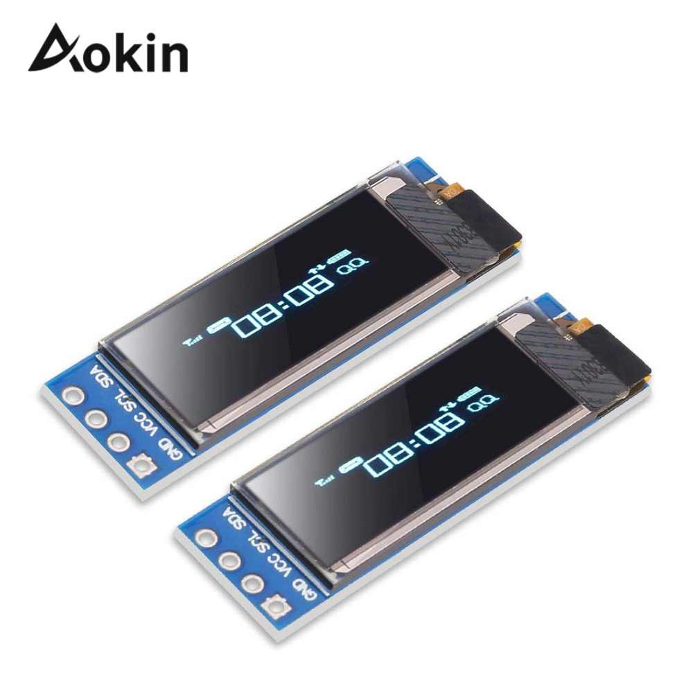 0.91 inch 128x32 IIC I2C Blue OLED LCD Display DIY Module SSD1306 Driver IC DC 3.3V 5V for arduino diy kit
