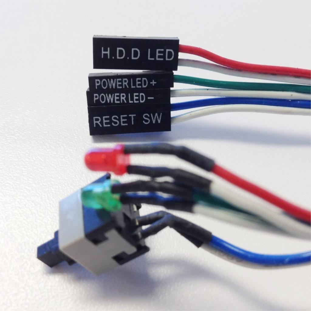 2 Pcs 20.5 Long Power Button Switch Cable for PC Reset Computer 2016 New promotion 2 pcs 20 5 long power button switch cable for pc reset computer