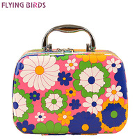FLYING BIRDS Women Cosmetic Cases Capacity Large Cosmetic Bags Box Makeup Bag Beauty Case Travel Jewelry
