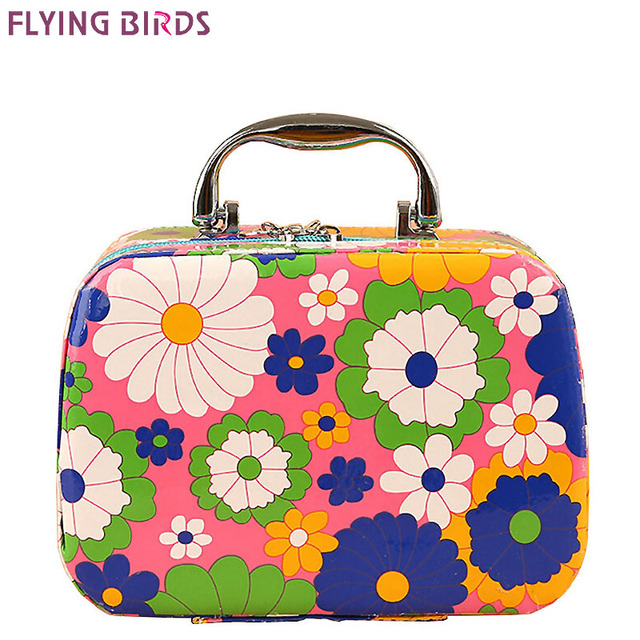 Flying Birds Women Cosmetic Cases Capacity Large Bags Box Makeup Bag Beauty Case Travel Jewelry