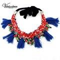 Vodeshanliwen Marca ZA Collares y Colgantes de La Manera Collar de la Mujer Collares Artesanales Simular-perla Collar de la Declaración