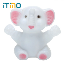 ITimo Color Changing LED Elephant Night Light Atmosphere Lamp for Kid Baby Bedside Bedroom Decoration Children Gift Cute Lamp