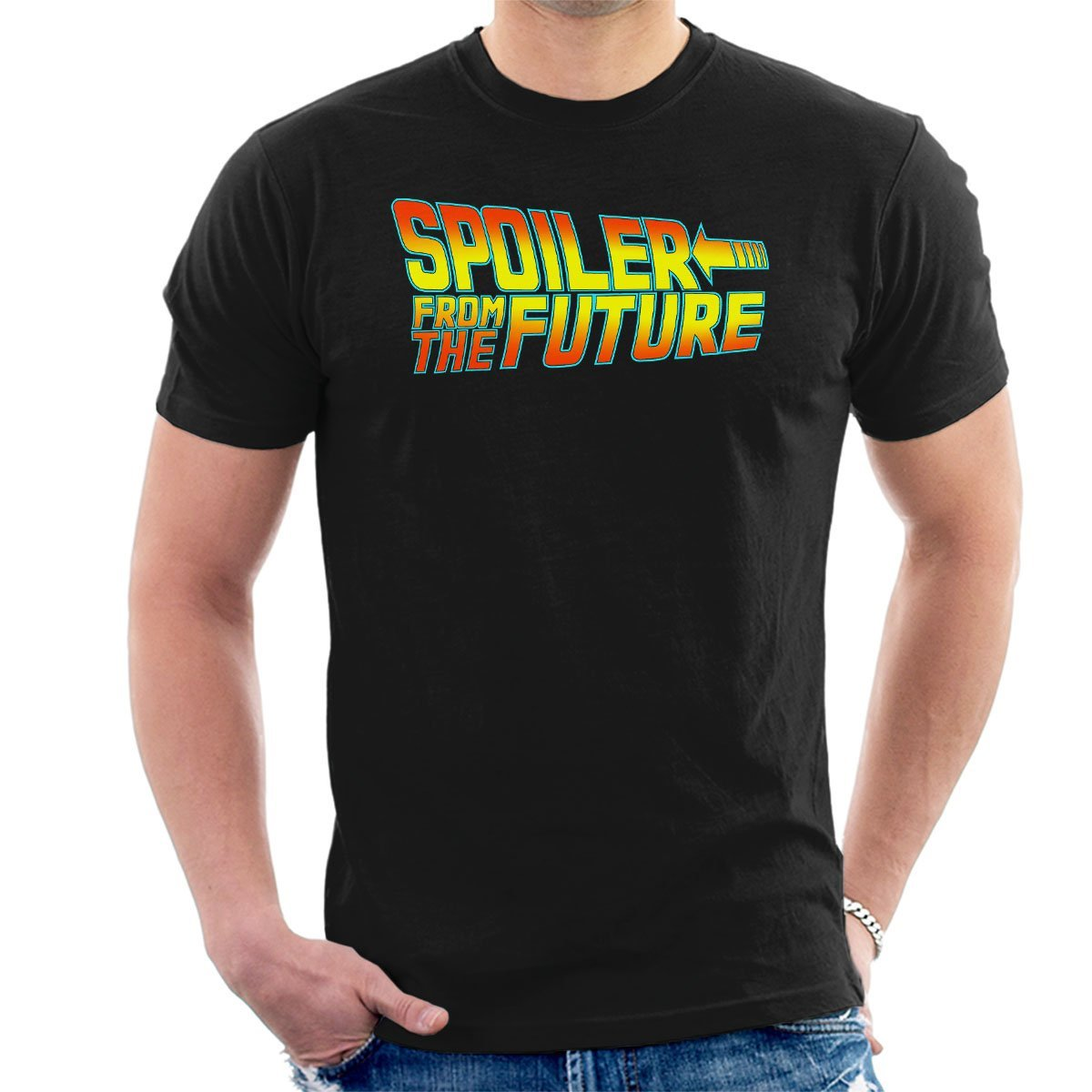 Back to Spoiler from The Future Mens T-Shirt