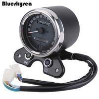 Blueskysea Universal Motorcycle LCD Digital LED Odometer KMH Speedometer For Honda Suzuki Cafe Racer Accessory
