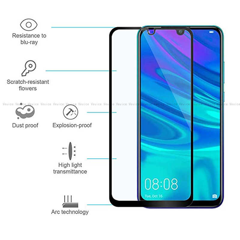 Full Cover Tempered Glass For Huawei Y6 Y7 Pro Y9 2019 Screen Protector For Huawei Y5 Y6 Y7 Prime Y9 2018 Protective Film Glass