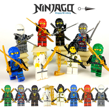 2018 Ninjago Master Wu NYA Cole KAI Lloyd ZANE JAY Ninja figure compatible LEGOINGLYS Building Blocks Bricks Children Toys zk35 compatible with ninjago 959pcs blocks ninjago figure epic dragon battle toys for children building blocks drop shipping