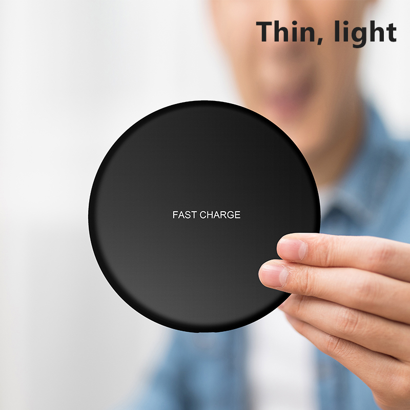ACCEZZ 10W Qi Wireless Charger Universal All Smart Phone For Samsung Galaxy S8 S9 Xiaomi MIX2 For iPhone X XS Max XR 8 Plus in Mobile Phone Chargers from Cellphones Telecommunications