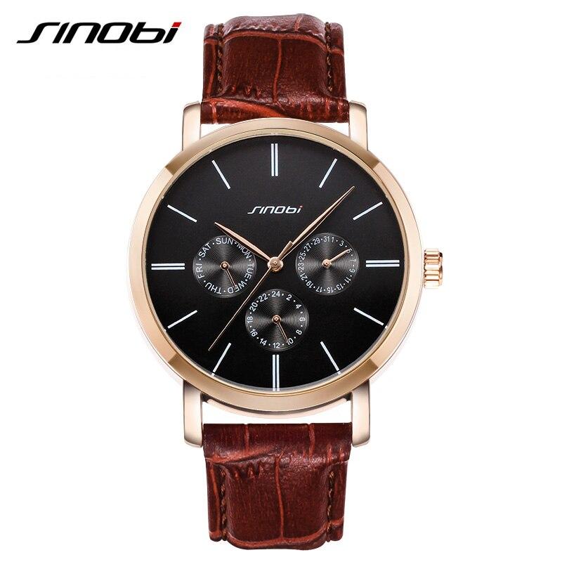 Brand Classic Men Quartz Watch Casual Business Japan leather strap Wristwatch Calendar waterproof relogio Relojes hombre 2016