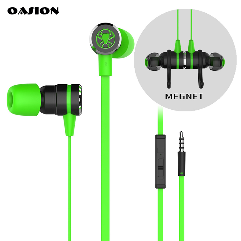 Game headset with microphones bass stereo gaming earphone for phone game earbuds headphone for computer PK Hammerhead urbanfun plextone g20 wired magnetic gaming headset in ear game earphone with mic stereo 2m bass earbuds computer earphone for pc phone