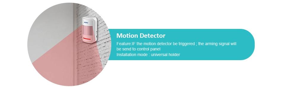 KERUI G18 Wireless Home GSM Security Alarm System DIY Kit APP Control With Auto Dial Motion Detector Sensor Burglar Alarm System 18
