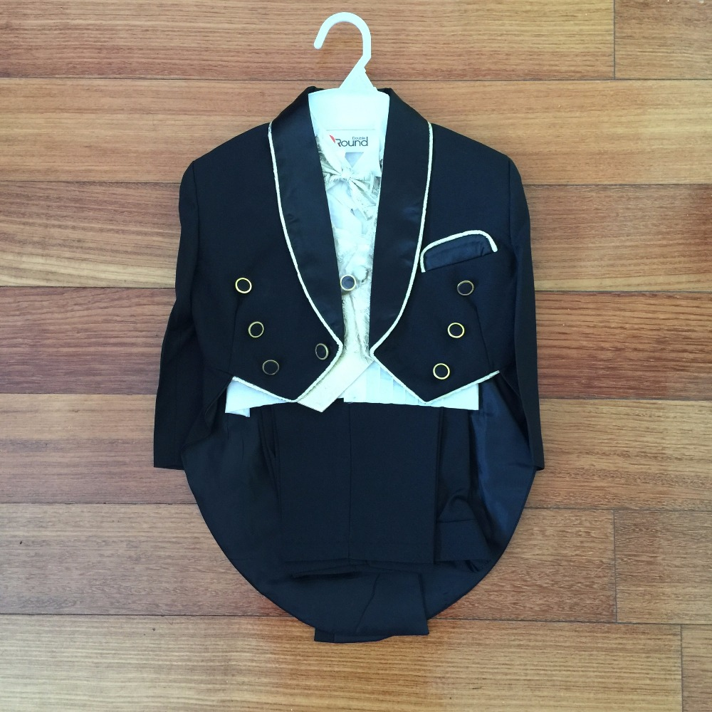 New Arrival Smart Gold Edge Boy's Wedding Party Suit/Boy's 5-piece Set Tuxedo/Flower Boy's Dress 931A