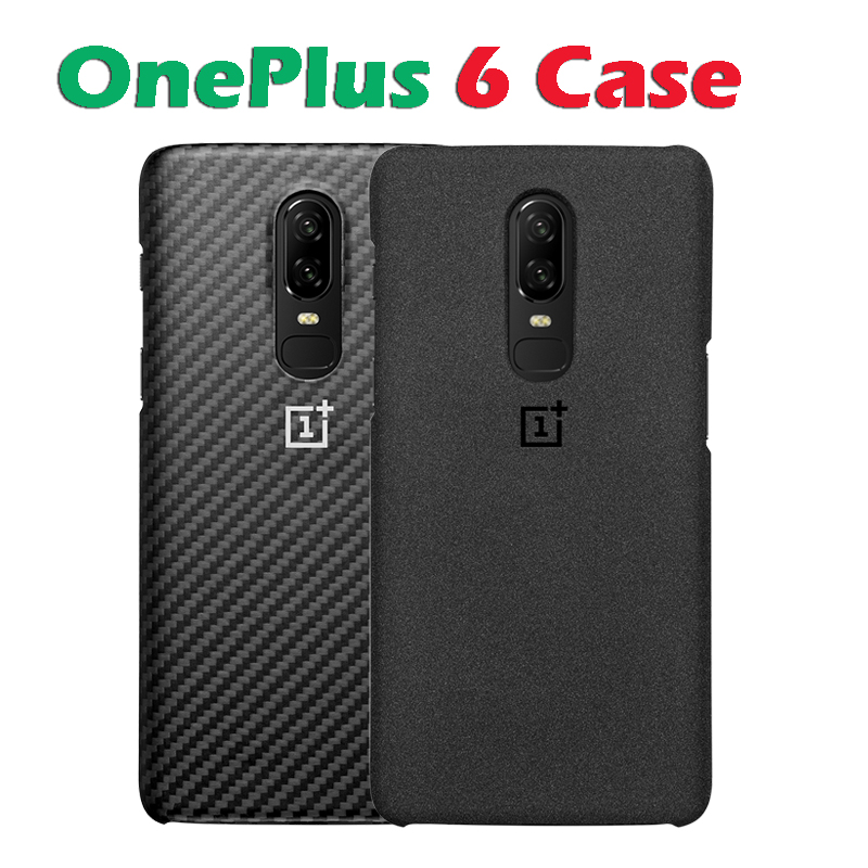 In stock Original OnePlus 6 Protective Case Karbon Sandstone Protective Case For OnePlus 6 Mobile Phone Retails Box