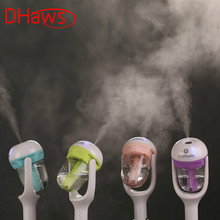 DHaws 12V Car Steam Humidifier Auto Mini Air Purifier Freshener Aroma Diffuser Essential Diffuser Aromatherapy Mist Maker Fogger цена и фото