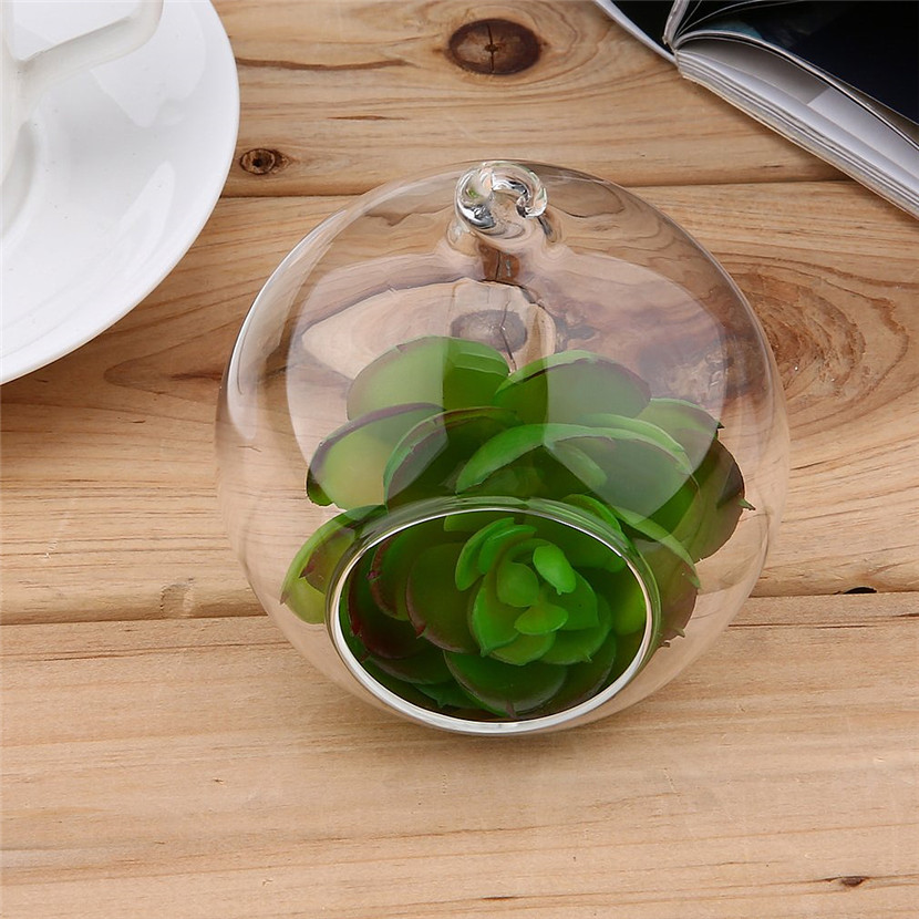 8 Cm Klarglas Runde 1 Loch Blume Stehen Topf Anlage Hängen Hydrokultur Für Home Office Hochzeit Dekoration Bestellungen Sind Willkommen.