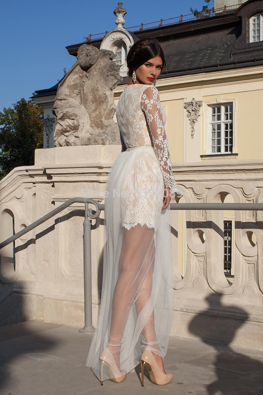 tulle sheer back knee length applique sexy wedding dresses custom fashionable affordable tiered short dresses women sexy short wedding dresses Tulle Sheer Back Knee Length Applique Sexy Wedding Dresses Custom Fashionable Affordable Tiered Short Dresses for Women