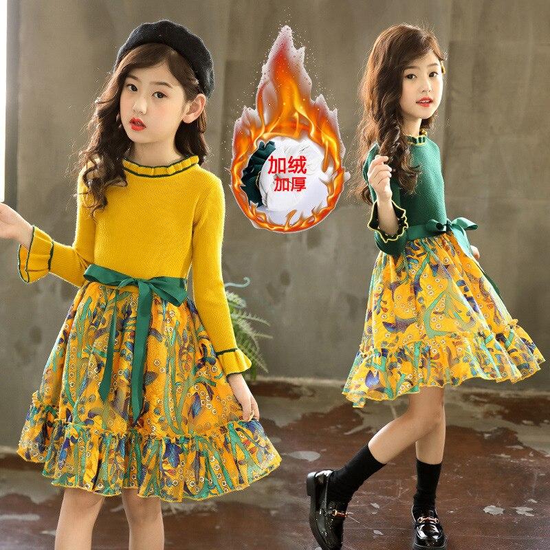 Girls Dress Winter Children Clothing Kids Dress for Wedding Party Toddler Long Sleeve Princess Brand Fashion 2020 Spring Summer 3