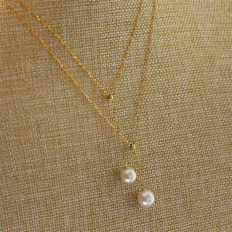 YIKALAISI 925 Sterling Silber Schmuck 8-9mm Natürliche Perlen - Edlen Schmuck - Foto 3