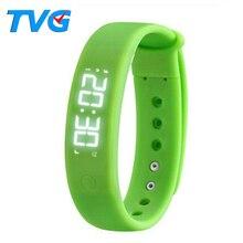 TVG Marca Casual Relojes de pulsera de Moda Deportiva Reloj LED Hombres Reloj Digital Podómetro Sleep Monitoreo Termómetro Reloj Masculino Reloj