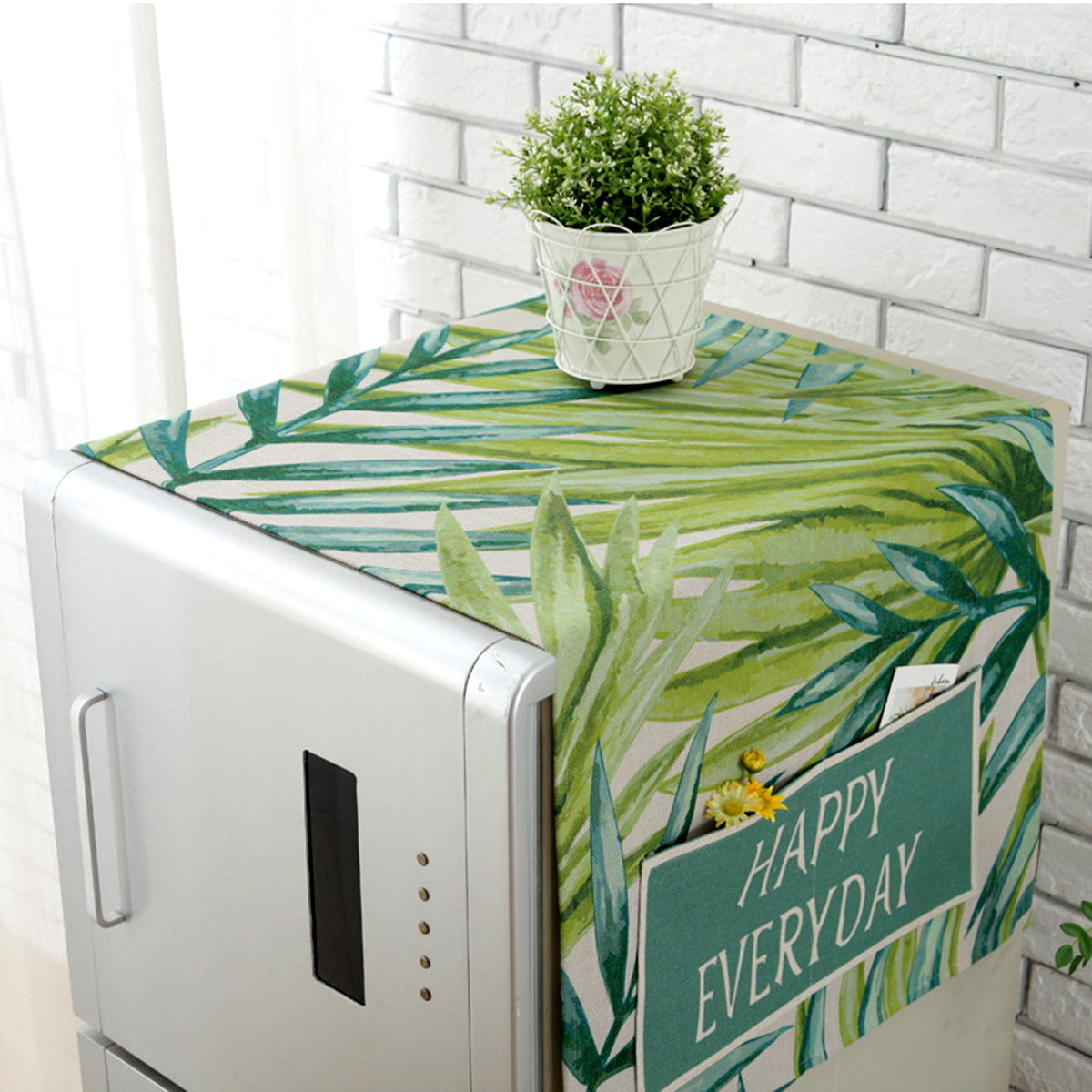 Household Drum Washing Machine Cover Portable Single Door Refrigerator Cover Dustproof Covers