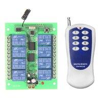 DC12V 8 CH 8CH Radio Controller RF Wireless Remote Control Switch System 315 433 Mhz Transmitter
