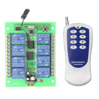 DC12V 8 CH 8CH Radio Controller RF Wireless Remote Control Switch System 315 433 Mhz Transmitter