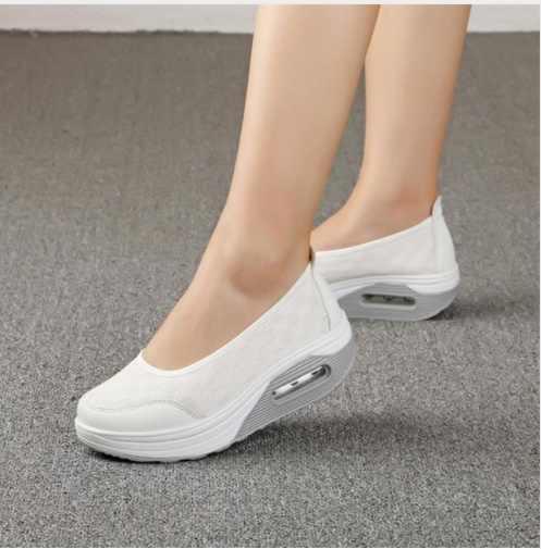 2019 קיץ חדש נשים של עבה סולית נעלי לנער אופנה מזדמן לנער נעלי עבה תחתון ספוג עוגת אחת כרית נעליים
