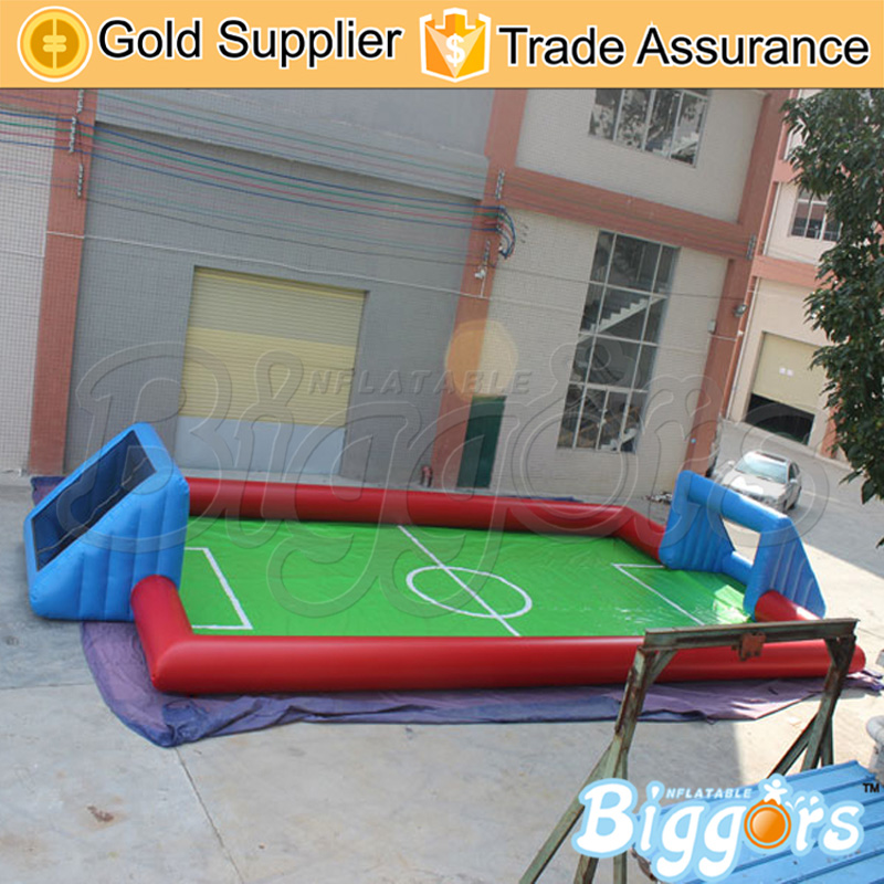 Free Shipping CE Certificated Inflatable Football Pitch Inflatable Soccer Court Soapy Stadium For Sale free shipping juegos inflables 16x8 meters inflatable soccer field football court with pvc material for kids
