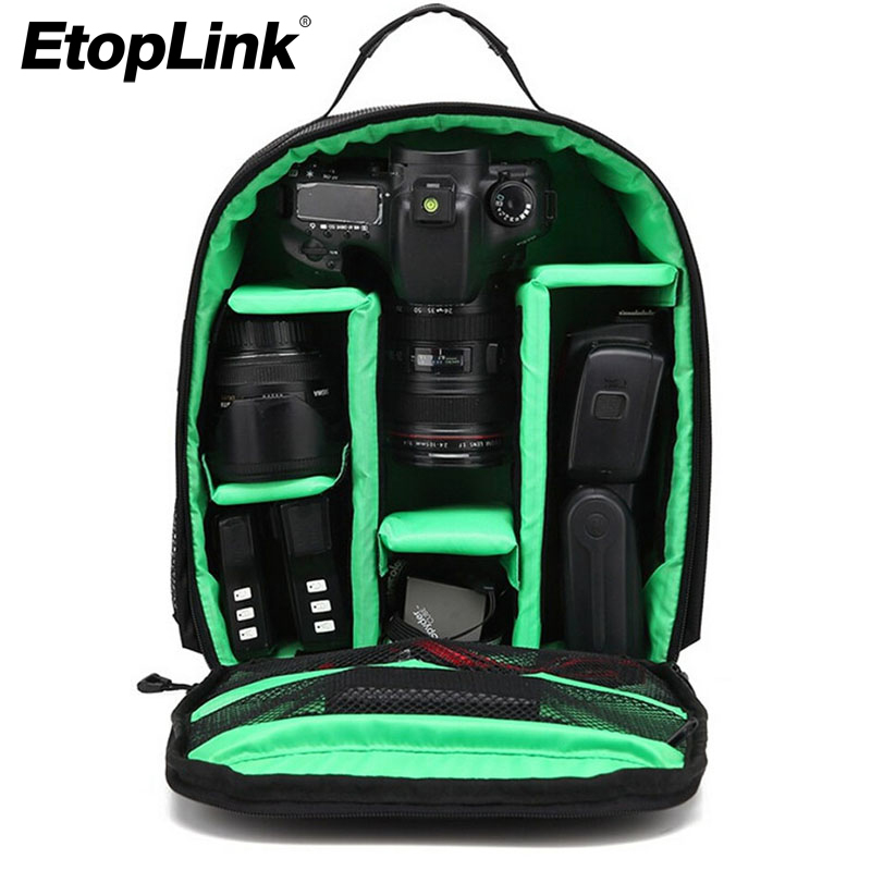 Outdoor Travel Camera Backpack Compact Nylon Photograph Bag for DSLR Camera for Canon for Nikon for Sony Professional Camera Bag