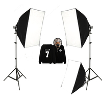 Godox Continuous Lighting With 3x 105W Tricolor Bulbs & 50*70 Folding Softbox & Stand Photography Studio Kit